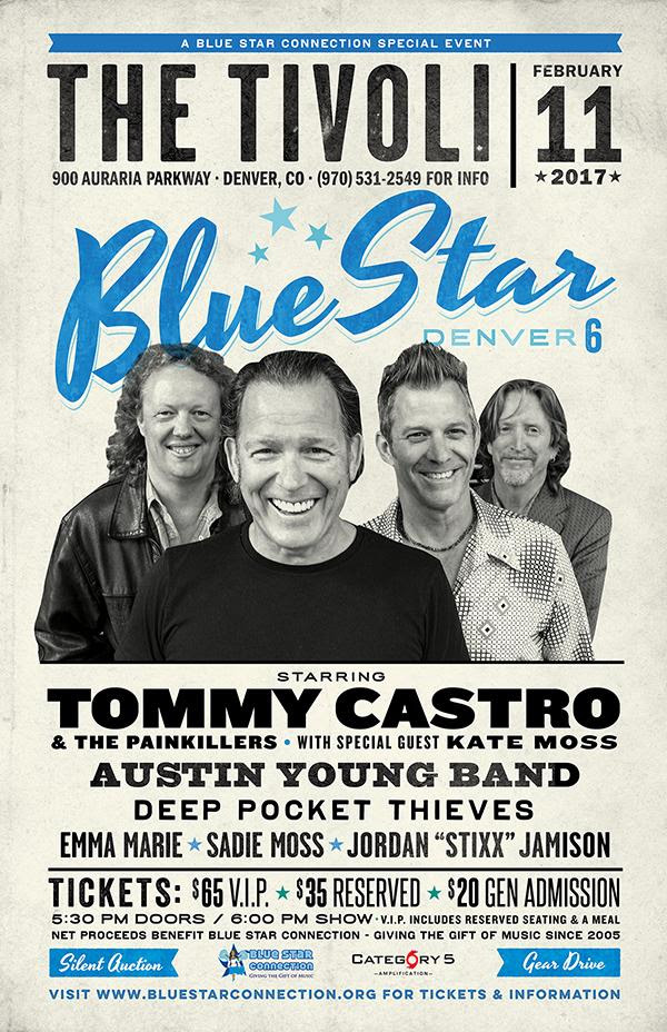 EVENTS: Tommy Castro Headlines Denver Bluestar Connection Fundraiser February 11th