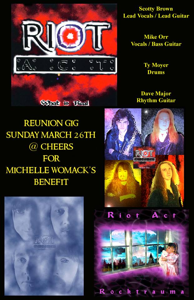 EVENTS: This Sunday, March 26th at Cheers – Benefit for Michelle Womack's Family – 2:00 p.m.