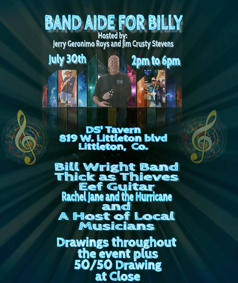 EVENTS: Band Aide for Billy – Fund-raiser for Bill Wright – Hurt in Road Rage Incident