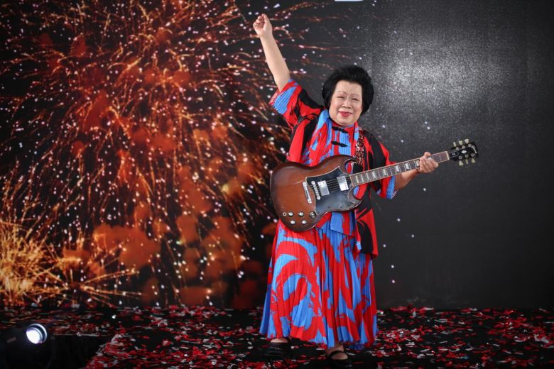 INTERESTING BITS: You're Never Too Old to Rock: Grandma, 81, to Perform Electric Guitar Solo at NDP 2017