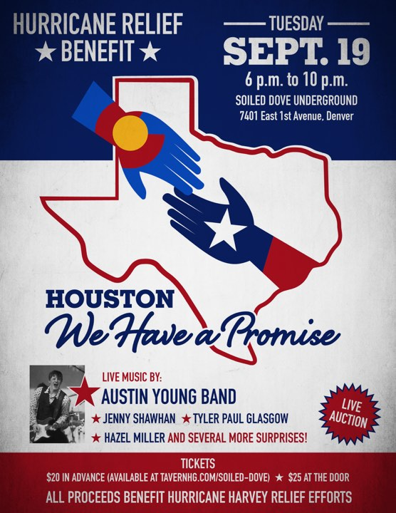 EVENTS: Sam Adams, Hazel Miller, Austin Young, Jenny Shawhan Team Up for Texas Benefit – September 19th