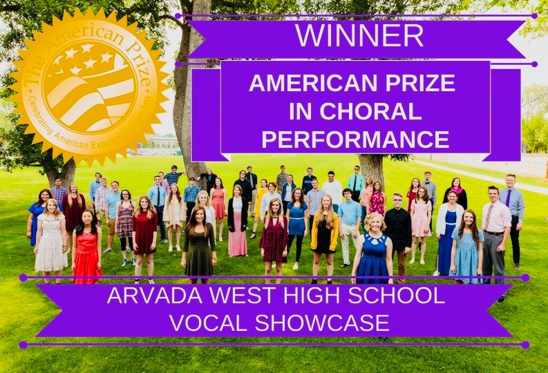 KUDOS: Arvada West's Vocal Showcase Named Winner of the American Prize in Choral Performance // And to PJ Zahn and The Hollow