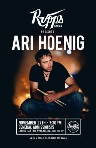 TALENT NEEDED: Rupp's Drums Presents A Clinic With Ari Hoenig