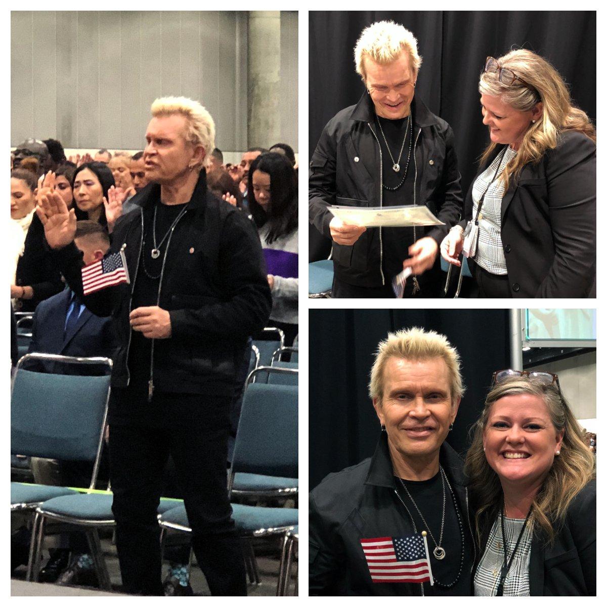 KUDOS: Rocker Billy Idol becomes U.S. Citizen