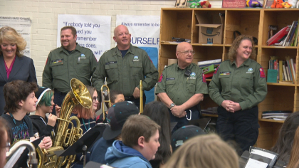 INTERESTING BITS: Vikan Middle School Gets New Drum Thanks To Search And Rescue Crews