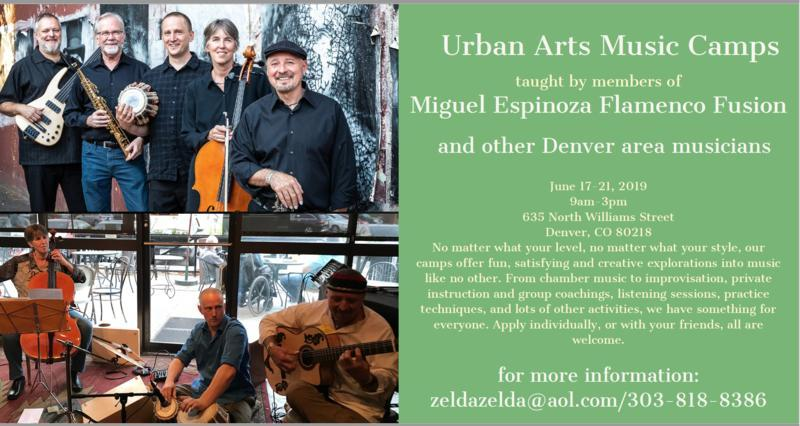 TALENT NEEDED: Urban Arts Music Camp June 17-21 Taught by Members of Miguel Espinoza Flamenco Fusion
