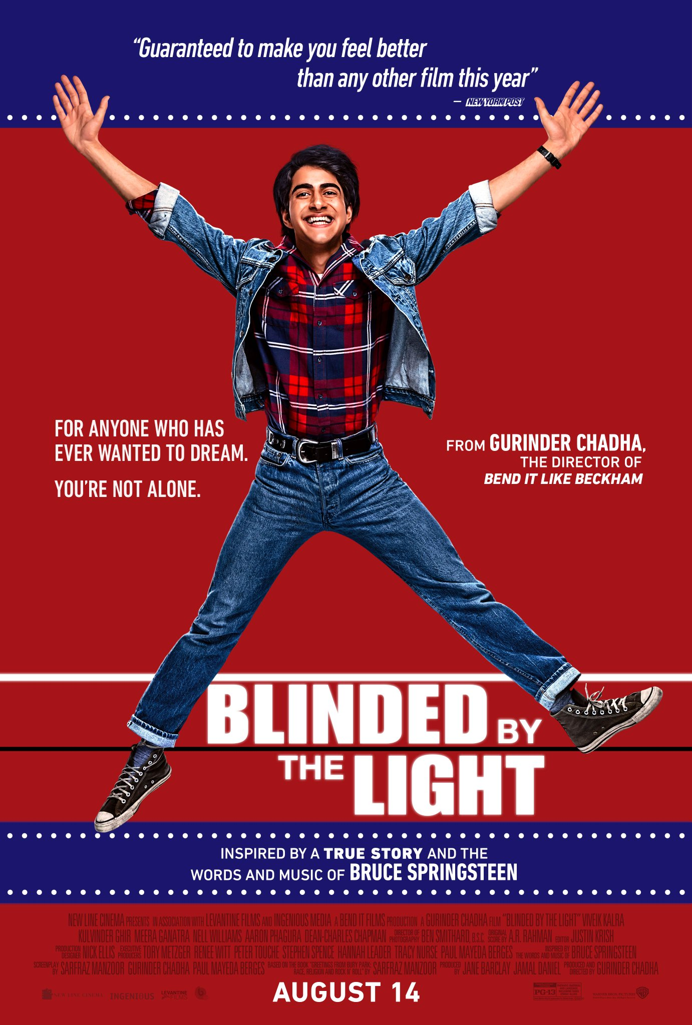 "MUSIC NOTES: FREE Screening of ""Blinded by the Light"" Featuring the Music of Bruce Springsteen"
