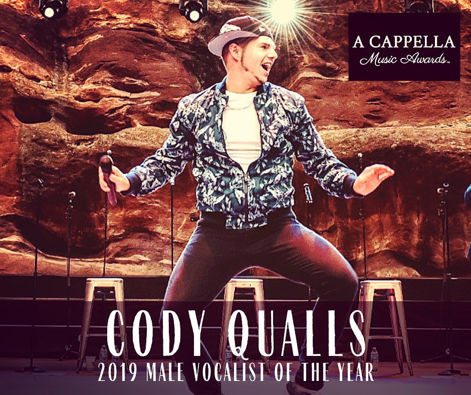KUDOS: Cody Qualls Wins the A Capella Male Vocalist of the Year Award