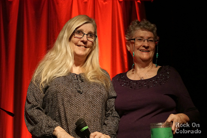 Annette Canon and Barb Dye hosting the COMBO Songwriters Showcas