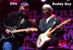 Otis Taylor and Buddy Guy at a previous Trance Festival